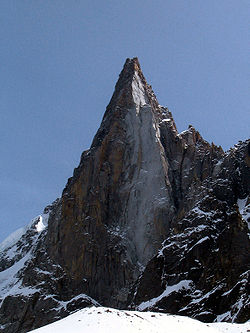 The west and south-west faces of the Aiguille du Dru
