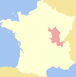 Het Hertogdom Bourgondië in Frankrijk