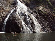 Dudhsagar, the milky waterfall, Goa.JPG