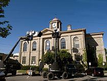 Dundas Town hall film set.jpg