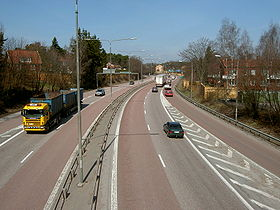 La E18 près de Västerås en Suède