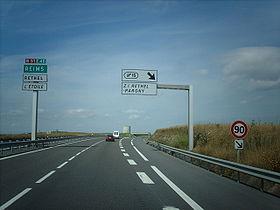 La E46 en France près de Rethel