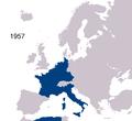 Avrupa Topluluğu haritası (1957)