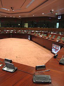 Salle du Conseil de l'Union européenne