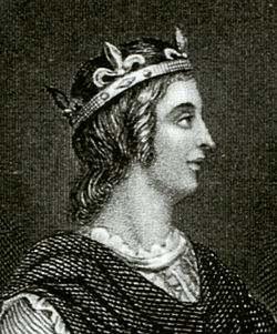 Line engraving of Edwy made by an unknown engraver after an unknown artist