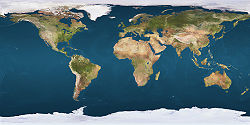 Line across the Earth