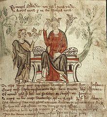 Modern depiction of Edward II
