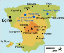 Mapa de la isla