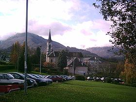 Vue de l'église de Jacob-Bellecombette