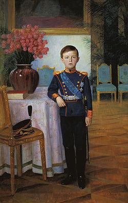 Portrait du tsarévitch en 1911.
