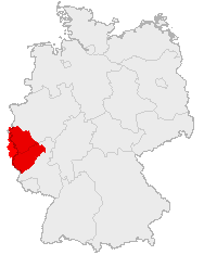 Carte de localisation de l'Eifel.