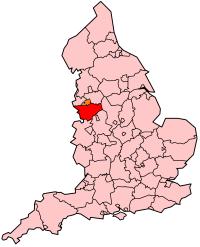 Ubicación de Cheshire