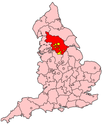 County boroughs are marked in yellow.