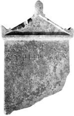 stèle funéraire de Dorias
