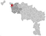 Situation de la commune dans la province de Hainaut