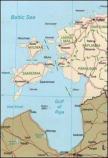 Mapa del golfo de Riga