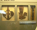 Bilobed arrows-Repousse copper designs from Etowah Mounds Georgia