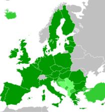 Ab haritası aday ülkeler