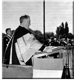 Franklin D. Roosevelt speaking at Queen's University