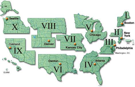 FEMA regions
