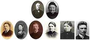 Photomontage de la famille de Vincent van Gogh