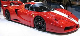 The Ferrari FXX at the European Motor Show 2006 in Brussels
