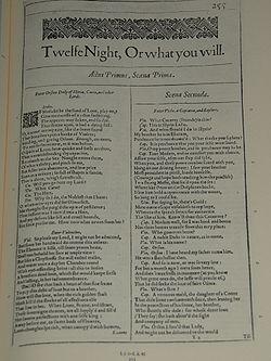 Fac-similé du premier in-folio de 1623
