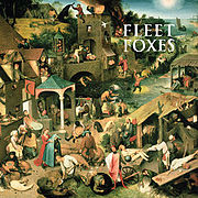 """Fleet Foxes"" album cover with Netherlandish Proverbs."