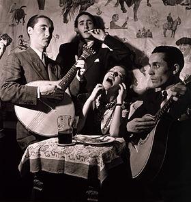 Une scène de Fado à Lisbonne en 1946