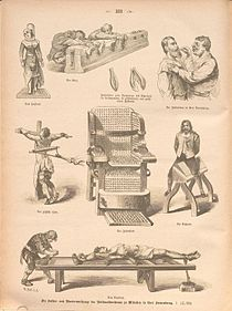 Tortures diversesGravure allemande de 1884