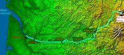 Localisation du cours de la Dordogne.