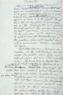 Manuscrit de Frankenstein.