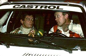 Franz Wurz avec Björn Waldegård au Jänner-Rallye 1984