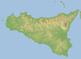 Localización del archipiélago (mapa de Sicilia)