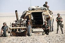 Une photographie représentant des soldats français engagés dans l'opération Tempête du désert en 1991.