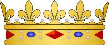 French heraldic crowns - Prince de sang royal.svg