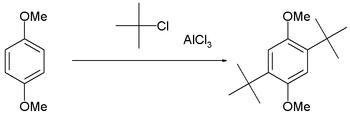 t-butylation of 1,4-dimethoxybenzene