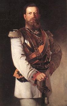 Friedrich III as Kronprinz - in GdK uniform by Heinrich von Angeli 1874.jpg