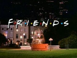 The title screen, featuring a sofa in front of a fountain in a park