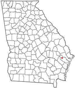 Location of Fort Stewart, Georgia