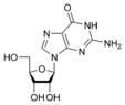 Estructura química de guanosina