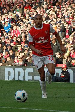 Gael Clichy Arsenal vs Birmingham 2010-11.jpg