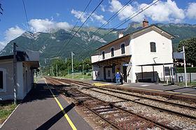 L'ancienne gare de Frontenex devenue halte SNCF.