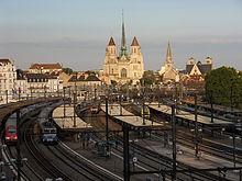 La gare de Dijon-Ville, vue côté voies
