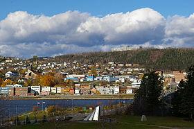 Rive nord de Gaspé centre-ville