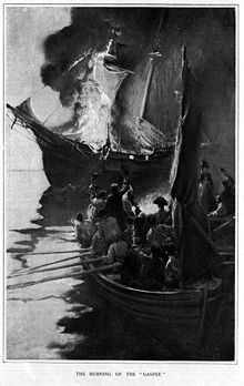 Burning of the Gaspe
