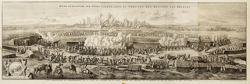 Bombardement op Geldern in 1703.