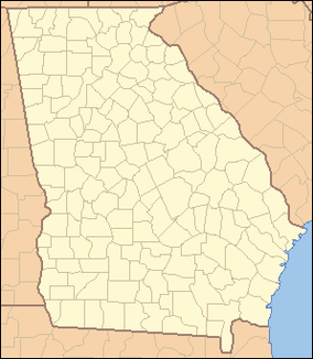 Map showing the location of Jimmy Carter National Historic Site