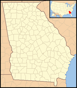 Map showing the location of Cloudland Canyon State Park