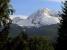 Vue de la face Sud du Gerlachovský štít